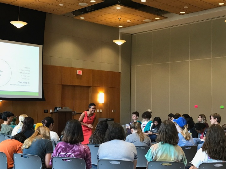 Dr. Naya presents keynote at University of Texas at Austin's Suicide Prevention Week